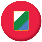 Abruzzo Flag 58mm Button Badge